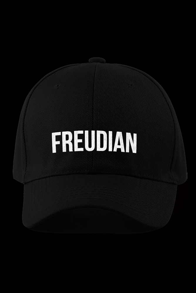 Freudian Black Embroidered Cap