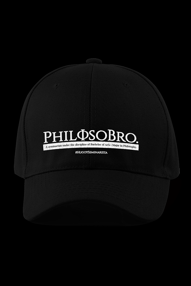 Philosobro Black Embroidered Cap
