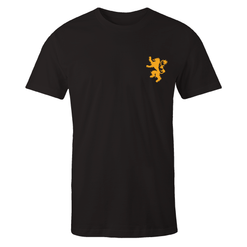 Lannister Black Embroidered Cotton Shirt