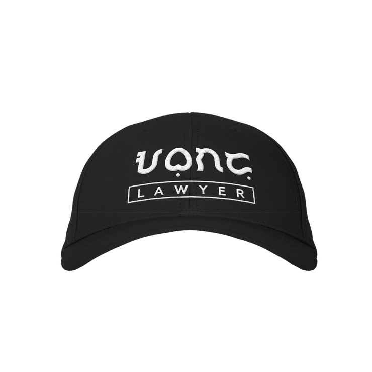 Lawyer Black Embroidered Cap