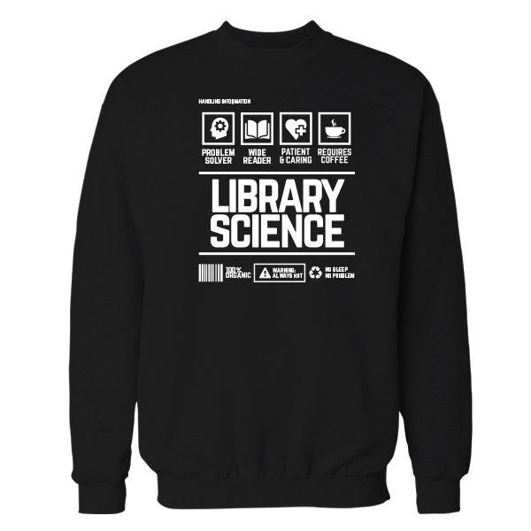 Library Science Handling Black Shirt