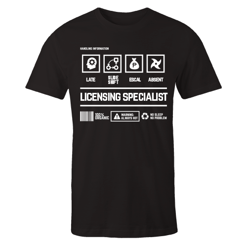 Licensing Specialist Black Cotton Shirt