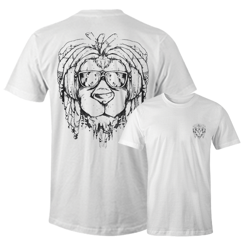 Rasta Lion Sublimation Dryfit Shirt Front and Back Print
