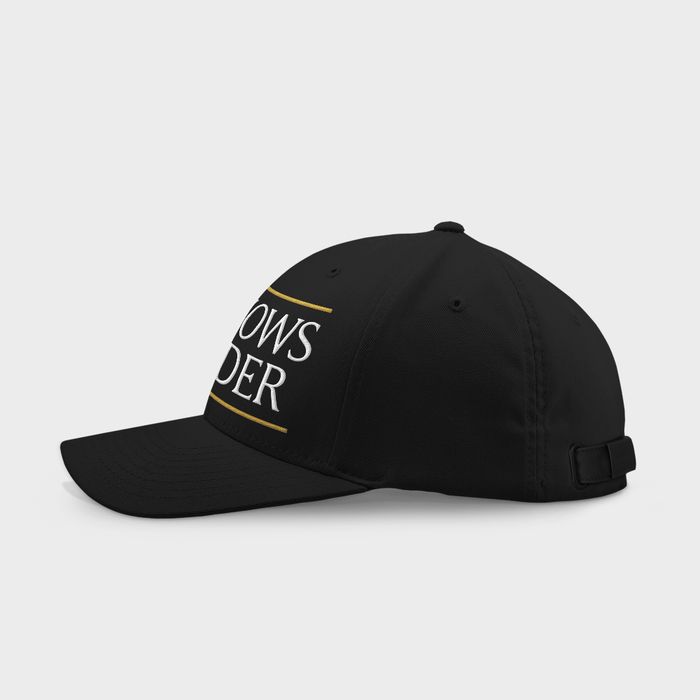 Love Knows No Gender Black Embroidered Cap