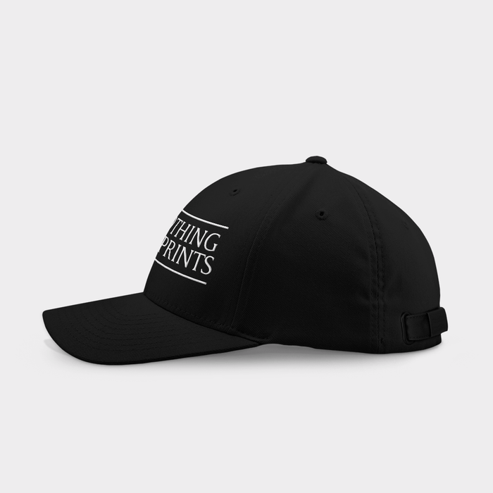 Leave Nothing But Footprints Black Embroidered Cap