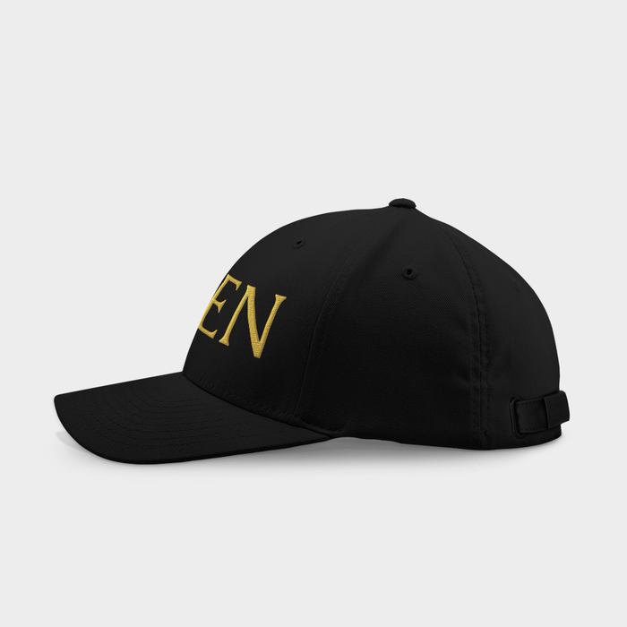 Queen Black Embroidered Cap