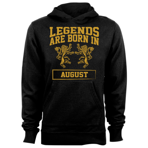 Legends are Born in August Cotton Shirt