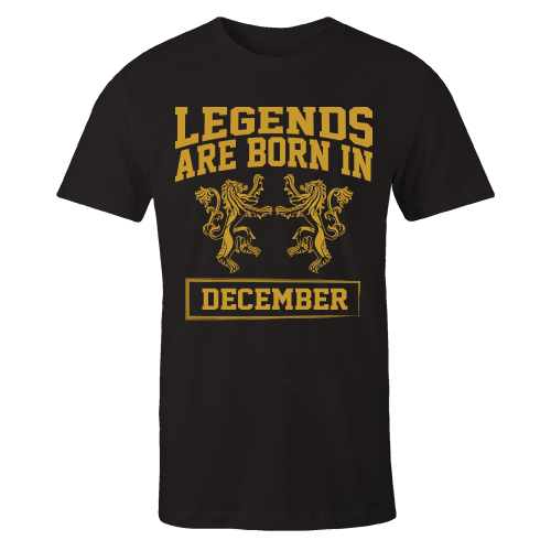 Legends are Born in December Cotton Shirt