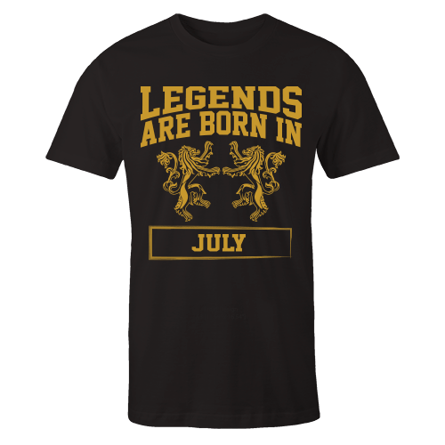 Legends are Born in July Cotton Shirt