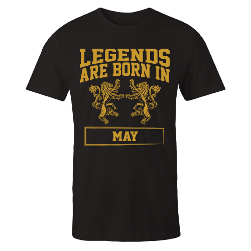 Legends are Born in May Cotton Shirt