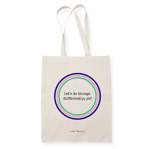 Let's Do Things Differently Sublimation Canvass Tote Bag