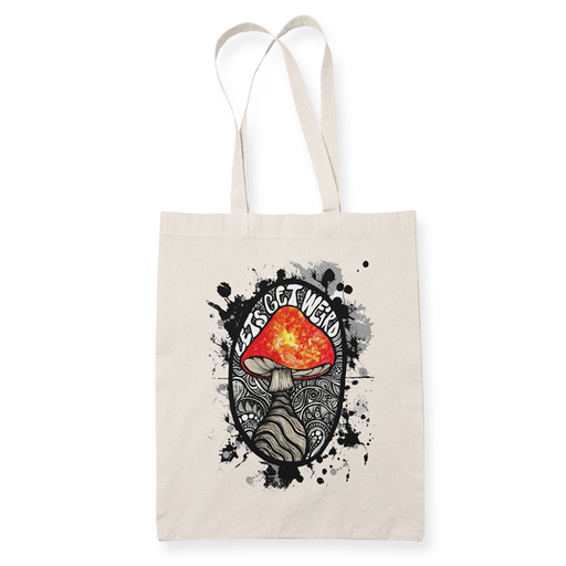 Lets get weird Sublimation Canvass Tote Bag