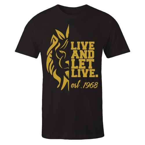 Live and Let Live Black Cotton Shirt