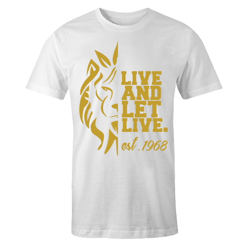 Live and Let Live White Cotton Shirt