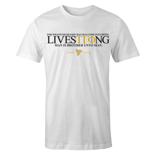 LiveSTRong White Cotton Shirt