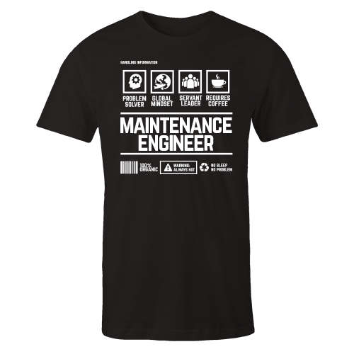 Maintenance Engineer Handling Black Shirt