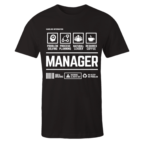 Manager Handling Black Cotton Shirt