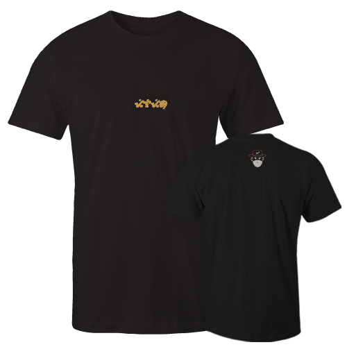 Mang olen baybayin Black Embroidered Cotton Shirt