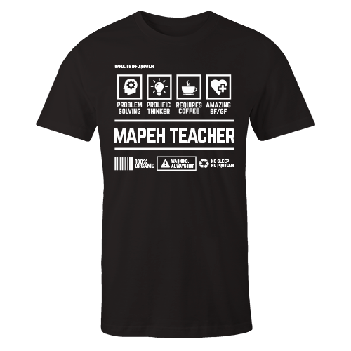 Mapeh Teacher Black Cotton Shirt