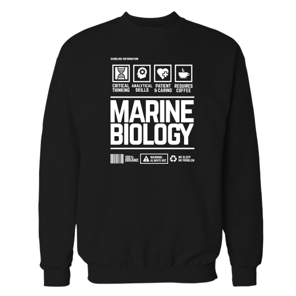 Marine Biology Handling Black Shirt