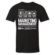Marketing Management Handling Black Shirt