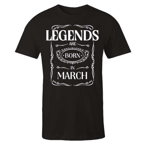 Legends are Born in March v3 Cotton Shirt