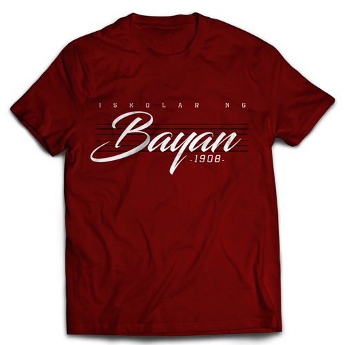 Bayan Lines Maroon Cotton Shirt