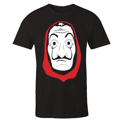 La casa de papel dali mask Black Shirt