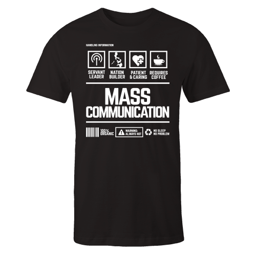 Mass Communication Handling Black Shirt