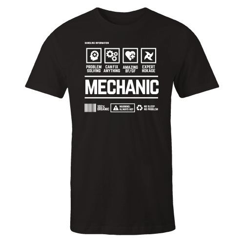 Mechanic Handling Black Shirt