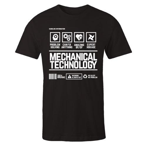 Mechanical Technology v2 Handling Black Cotton Shirt