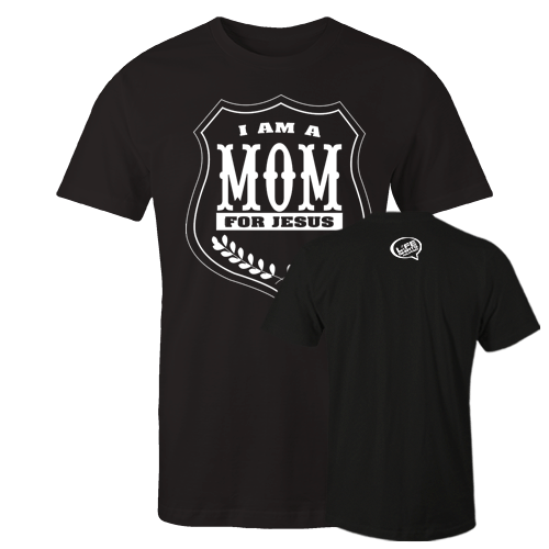 I am a mom Black Cotton Shirt