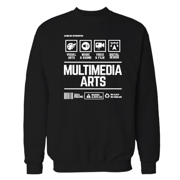 Multimedia Arts Handling Black Shirt