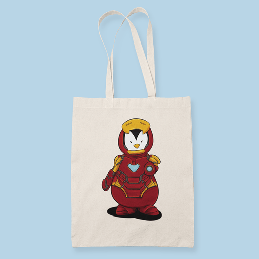 Penguin Comics Mashup v8 Sublimation Canvass Tote Bag