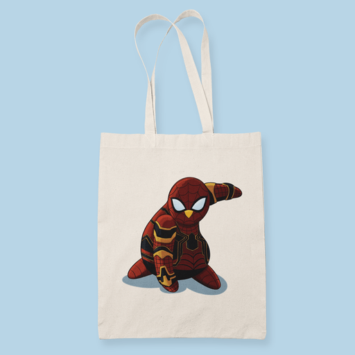 Penguin Comics Mashup v7 Sublimation Canvass Tote Bag