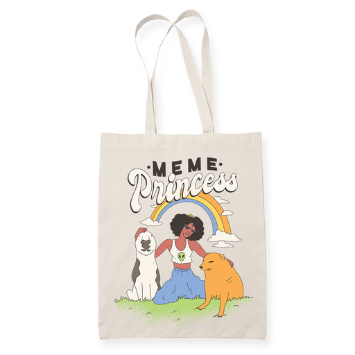 Meme princess Sublimation Canvass Tote Bag