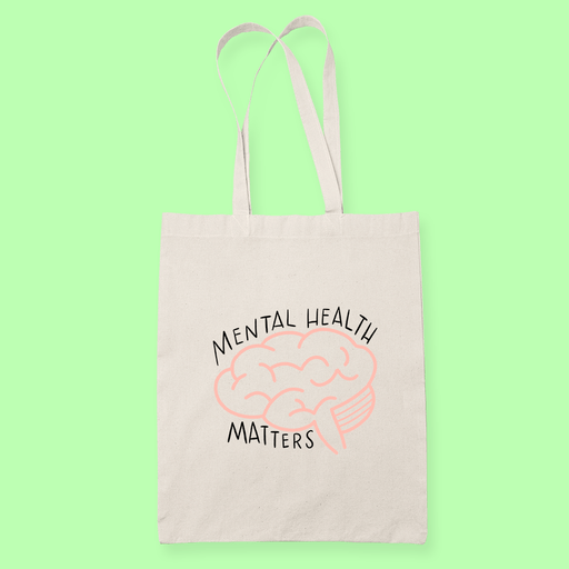 Mental Health matters Sublimation Canvass Tote Bag
