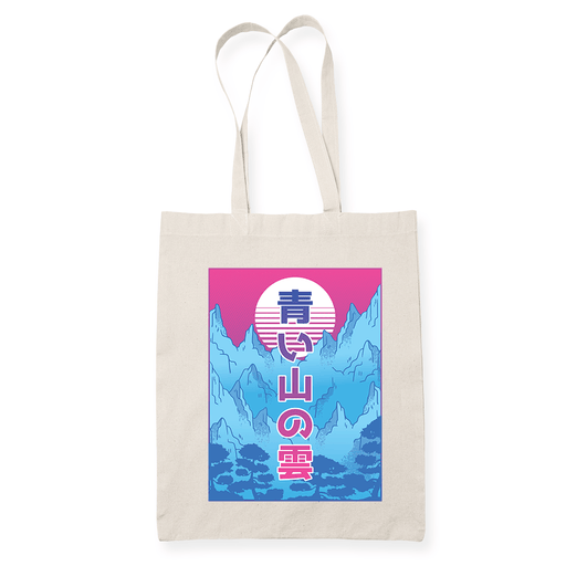 Mountain Wave Sublimation Canvass Tote Bag