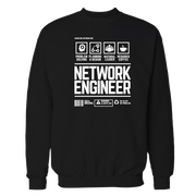 Network Engineer Handling Black Shirt