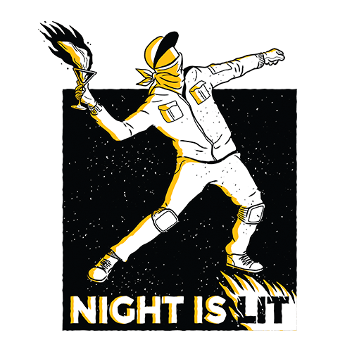 Night is lit Sublimation Dryfit Shirt