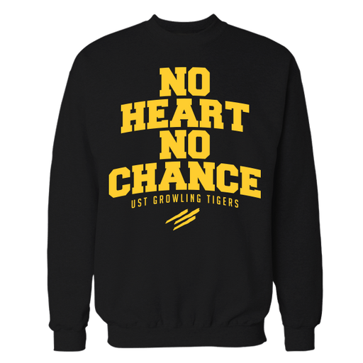 No Heart No Chance Black Cotton Sweatshirt
