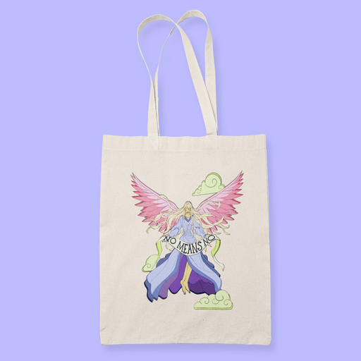 No Means No Sublimation Canvass Tote Bag