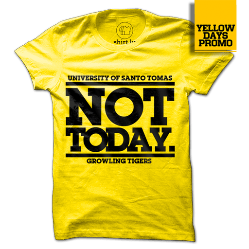 NOT TODAY Yellow Cotton Shirt