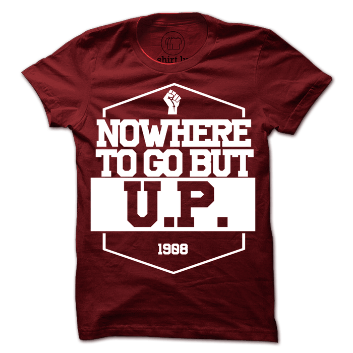 NOWHERE TO GO Maroon Cotton Shirt