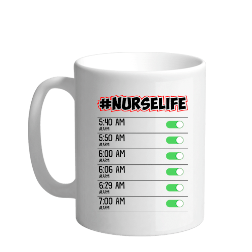 Nurse Life Sublimation White Mug