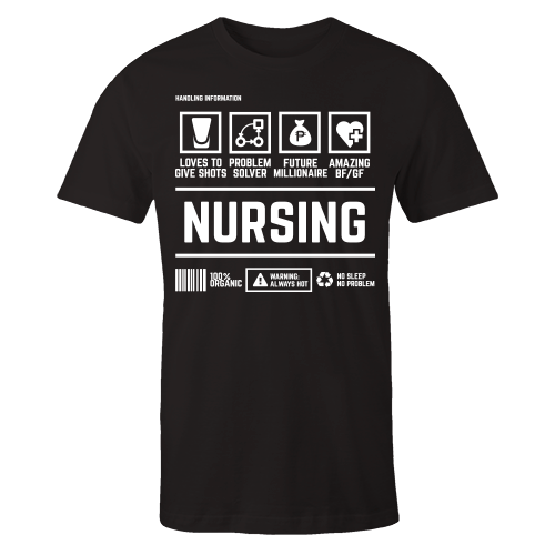 Nursing Handling Black Shirt