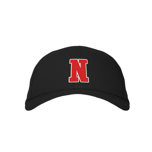 Letter N Black Embroidered Cap