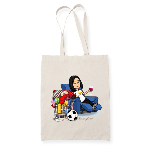 Nanayhood Laundry Sublimation Canvass Tote Bag