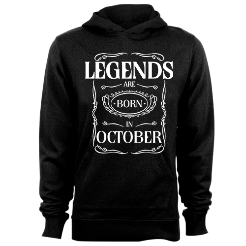 Legends are Born in October v3 Cotton Shirt