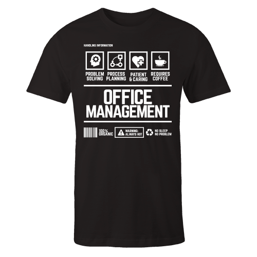 Office Management Handling Black Shirt